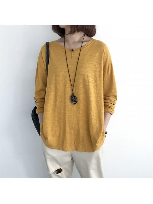 (NA2008) 簡約棉質上衣