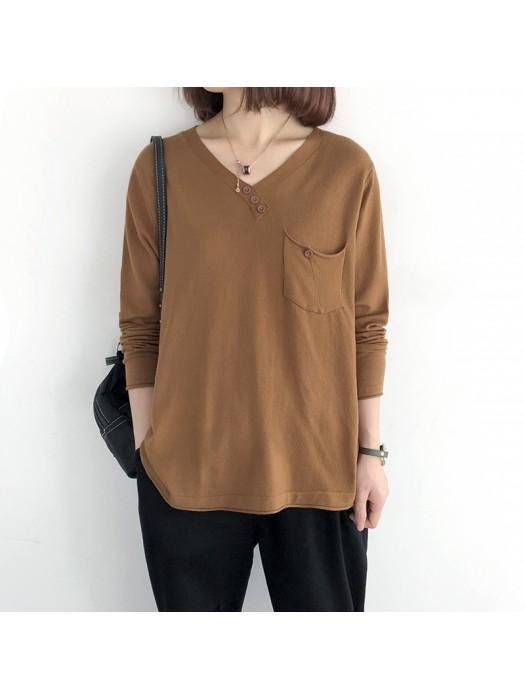 (NA2009) 簡約針織上衣