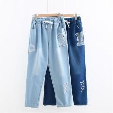 日系(WA9139) 貓 牛仔褲