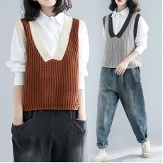 (F7352) 背心恤衫兩件套  (大碼款)