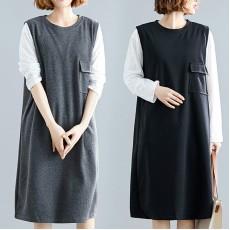 (F7358) 連身裙兩件套 (大碼款)