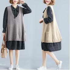 (F7390) 連身裙兩件套  (大碼款)