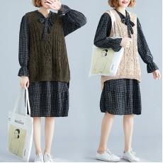 (F7391) 連身裙兩件套 (大碼款)