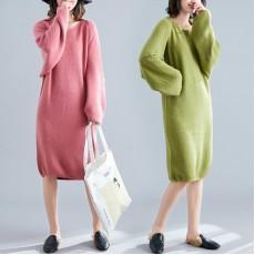 (F7409) 針織連身裙套裝 (大碼款)