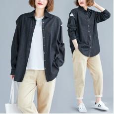 (F7325) 牛仔恤衫兩件套  (大碼款)