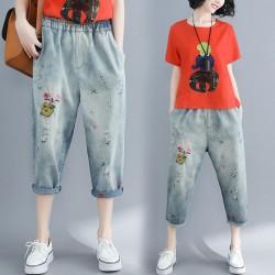 (F7157) 牛仔褲  (大碼款)