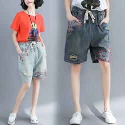 (F7158) 牛仔短褲 (大碼款)