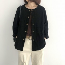 (NA1791) 簡約棉質外套
