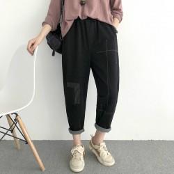 (NA1799) 簡約棉質長褲