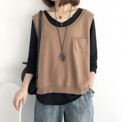 (NA1805) 簡約棉質背心上衣