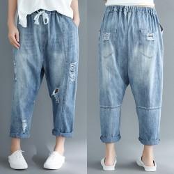 (F7144) 牛仔褲   (大碼款)
