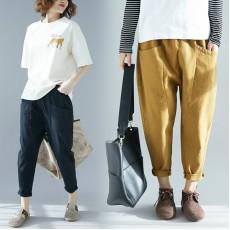 (啡色現貨)(F6795) 長褲 (大碼款)