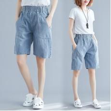 (現貨M碼)(F6035) 牛仔短褲 (大碼款)