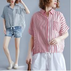(現貨紅色)(F5756) 恤衫 (大碼款)