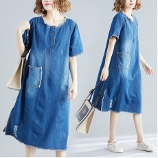 (XXL有現貨)(F5761)  牛仔連身裙 (大碼款)