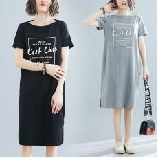 (黑色現貨)(F5240) 連身裙 (大碼款)