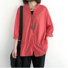(NA1387) 簡約麻棉恤衫