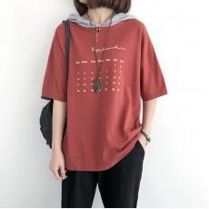 (NA1388) 簡約棉質連帽上衣