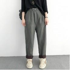 (NA1389) 簡約麻棉長褲