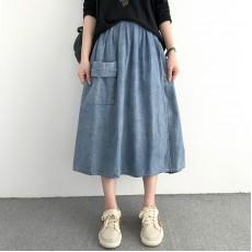 (NA1390) 簡約牛仔半身裙