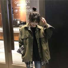 (A1936) 寬鬆兩面穿外套