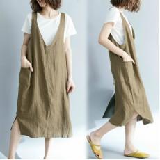 (F5191) 背帶連身裙 (大碼款)