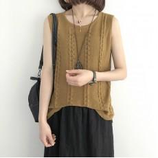 (NA1362) 簡約針織背心上衣