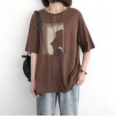 (NA1363) 簡約棉質上衣