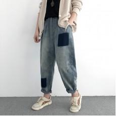 (NA1372) 簡約牛仔褲