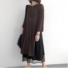 (NA1375) 簡約針織連身裙