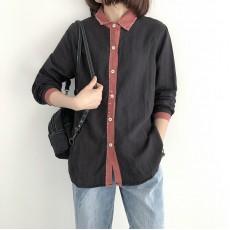 (NA1349) 簡約麻棉恤衫