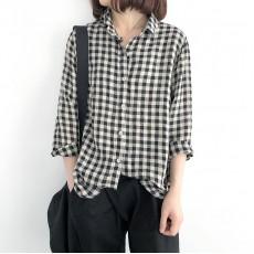 (NA1354) 簡約麻棉恤衫