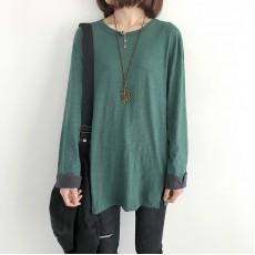 (現貨綠色)(NA1357) 簡約棉質上衣