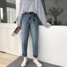 (A1902) 直筒闊腿牛仔褲