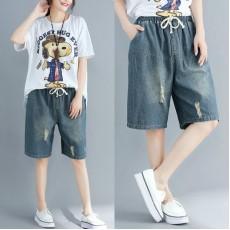 (F5127) 牛仔短褲  (大碼款)