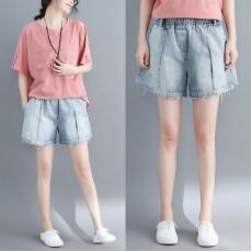 (F5154) 牛仔短褲 (大碼款)