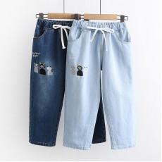 日系(WA8210)  貓  牛仔褲