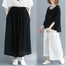 (F5085) 闊腿褲 (大碼款)