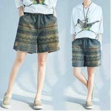 (F5086) 牛仔短褲  (大碼款)