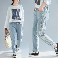 (F5088) 牛仔褲 (大碼款)