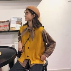 (A1628) 恤衫+背心兩件套