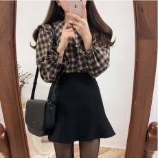 (A1647) 格仔上衣/ 裙子