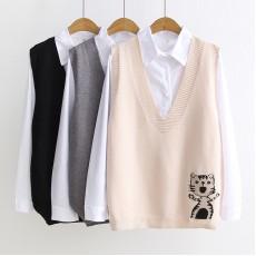 日系(WA8009)  兩件套上衣
