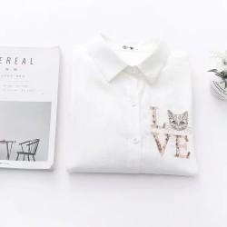 日系(WA8018)  貓  恤衫