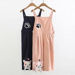 日系(WA8023)  貓  連身褲