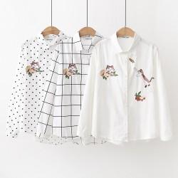 日系(WA8027)  貓  恤衫