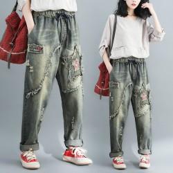 (F4841) 牛仔褲 (大碼款)