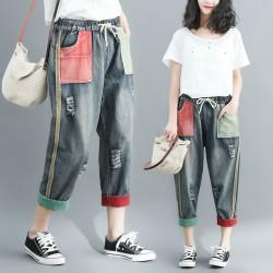 (F4842) 牛仔褲 (大碼款)