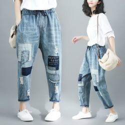 (F4854) 牛仔褲 (大碼款)