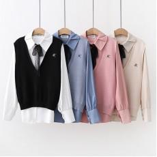 日系(WA7908) 兩件套上衣
